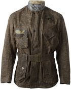 Barbour Camouflage Pattern Waxed Finish Jacket - Lyst