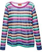 Missoni Fine Knit Stripes Sweater - Lyst