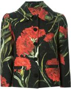 Dolce & Gabbana Carnations Print Embossed Jacket - Lyst