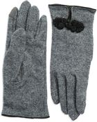 Lauren by Ralph Lauren Embellished Wool Gloves - Lyst