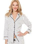 Betsey Johnson Cotton Flannel Pajama Set - Lyst