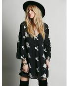 Free People Womens Embroidered Austin Dress - Lyst