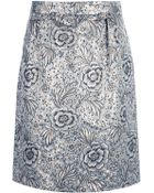 Burberry Prorsum Print Skirt - Lyst