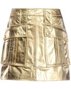 Moschino Leather Skirt - Lyst