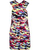 Carven Printed Cotton-Twill Mini Dress - Lyst