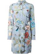 Gucci 'Flora' By Kris Knight Shirt Dress - Lyst