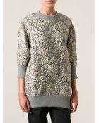 Dolce & Gabbana Textured Sweater - Lyst