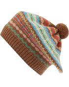 Jo Gordon Brown Knit Fair Isle Tammy Hat - Lyst