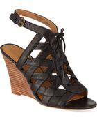 Nine West Maxamilian Wedge Sandals - Lyst