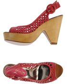 Poetic Licence Open-Toe Mules - Lyst