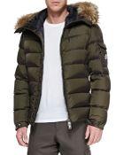 Moncler Byron Fur-Trim Hood Puffer Cardigan - Lyst