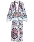 Etro Abstract-Print Silk Dress - Lyst