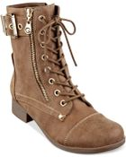 G By Guess Women'S Berlyn Combat Booties - Lyst