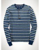 Polo Ralph Lauren Indigo-Dyed Striped Henley - Lyst