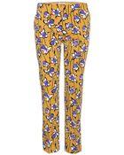 Miu Miu Printed Wool-Twill Trousers - Lyst