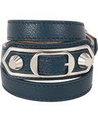 Balenciaga Ligne Classic Leather Wrap Bracelet - Lyst
