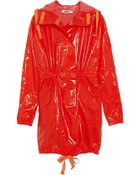 MM6 by Maison Martin Margiela Laminated Trench Coat - Lyst