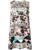 MSGM Pattern Mix Shift Dress - Lyst