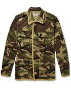 Saint Laurent Camouflage Cotton Jacket - Lyst