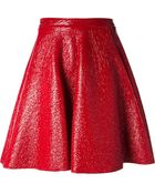 MSGM Laminated A-Line Skirt - Lyst