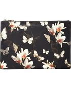 Givenchy Magnolia & Moth Large Zip Pouch - Lyst