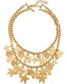Oscar de la Renta Seashell Gold-Plated Necklace - Lyst