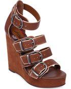 Lucky Brand Womens Rayah Platform Wedge Sandals - Lyst