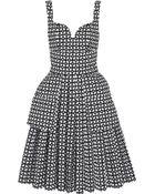 Alexander McQueen Bonded Laser-Cut Cotton-Poplin Dress - Lyst