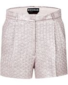 Rochas Silk Blend Textured Shorts - Lyst