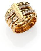 Michael Kors Astor Pave Stacked Pyramid Ring/Goldtone - Lyst
