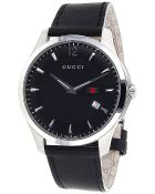 Gucci Men'S Black Dial Black Leather - Lyst