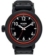 Nixon October All Black Red Watch - Lyst