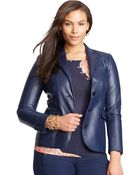 Ralph Lauren Leather Two-Button Jacket - Lyst