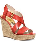 MICHAEL Michael Kors Open Toe Platform Wedge Espadrille Sandals - Giovanna - Lyst