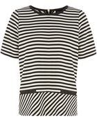 Oasis Wiggle Stripe Structured Tee - Lyst
