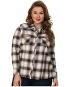 Stetson Plus Size 9321 Avon Ombre Plaid Shirt - Lyst