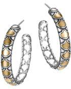John Hardy Naga Gold & Silver Medium Hoop Earrings - Lyst