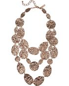 Oscar de la Renta Hammered Rose Goldplated Multistrand Necklace - Lyst