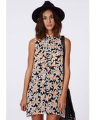 Missguided Acalorada Daisy Print Shirt Dress - Lyst