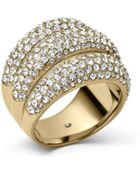Michael Kors Pave Dome Ring - Lyst