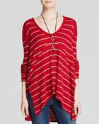 Free People Top - Striped Drippy Thermal Sunset Park - Lyst
