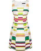 Karen Millen Bold Stripe Full-Skirted Dress - Lyst
