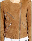 Selected Suri Jacket in Suede - Lyst