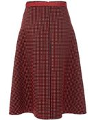 Christopher Kane Midi Skirt With Contrasting Studs - Lyst