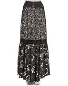 Marc Jacobs Lace-Inset Long Floral Skirt - Lyst