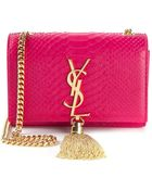 Saint Laurent Monogramme Python Skin Shoulder Bag - Lyst