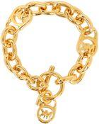Michael Kors Heritage Link With Padlock Bracelet - Lyst