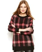 Michael Kors Michael Plaid Boyfriend Sweater - Lyst