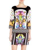 Just Cavalli Printed Shift Dress - Lyst