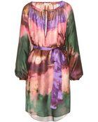 Emilio Pucci Tie-Dye Printed Silk Dress - Lyst